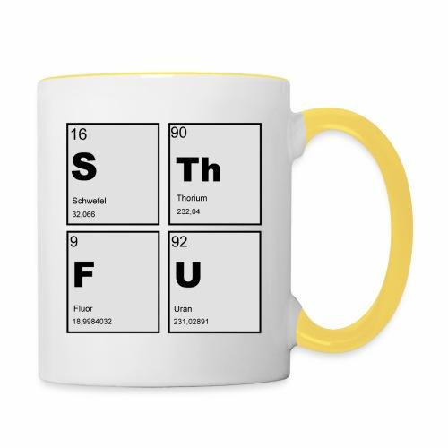 STFU Quadratisch - Tasse zweifarbig