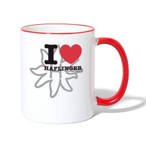 I love Haflinger - Tasse zweifarbig