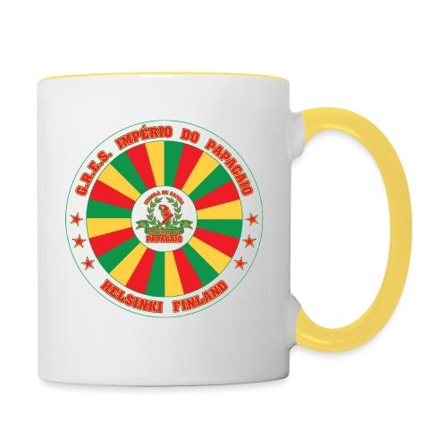 Papagaio drum logo - Kaksivärinen muki