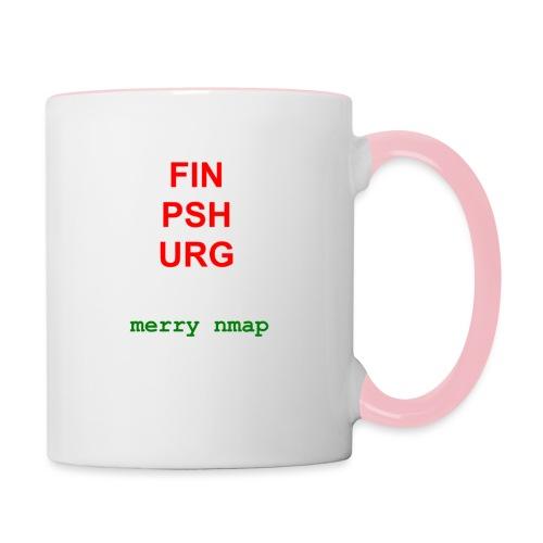 Merry nmap - Contrasting Mug