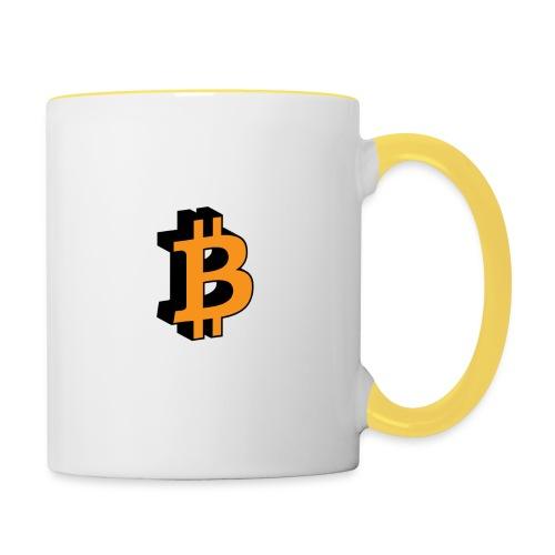 Bitcoin - Tasse zweifarbig