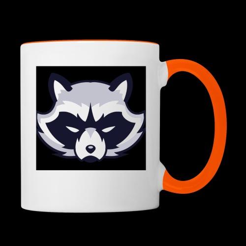 WaschbeerKopf Logo :) - Tasse zweifarbig