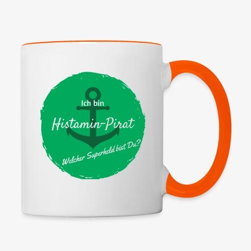 Histamin-Pirat Superheld (grün) - Tasse zweifarbig