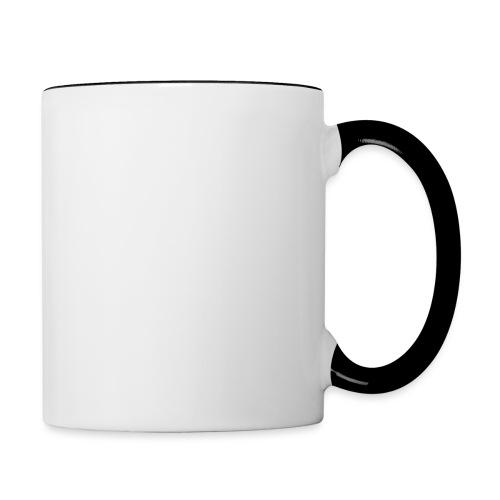 wit logo transparante achtergrond - Mok tweekleurig