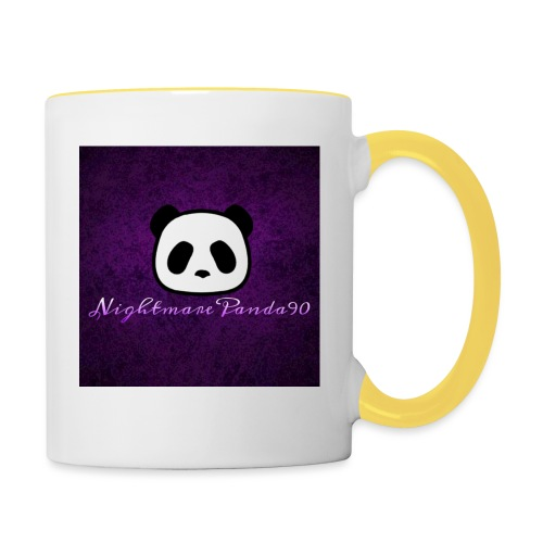 nightmare panda watermark - Contrasting Mug
