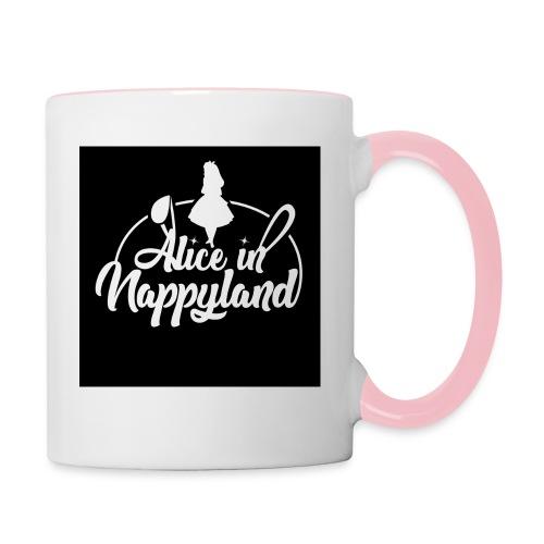 Alice in Nappyland TypographyWhite 1080 - Contrasting Mug
