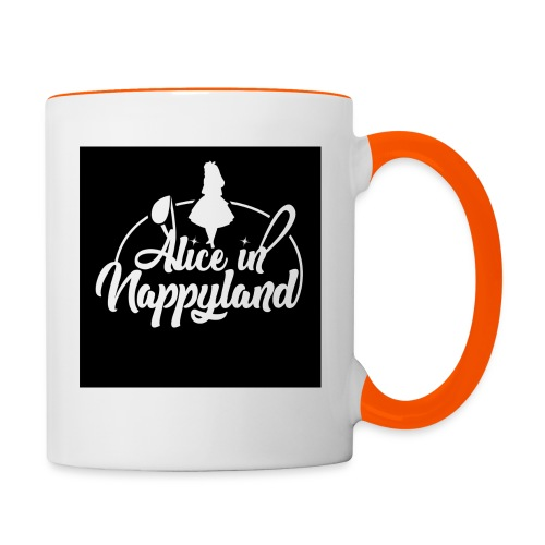 Alice in Nappyland TypographyWhite 1080 - Contrasting Mug