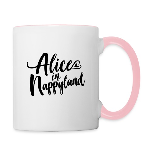 Alice in Nappyland Typography Black 1080 1 - Contrasting Mug