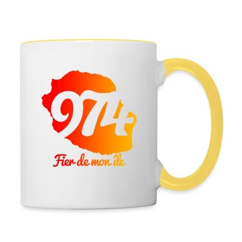 Collection 974 Fier de mon île - Mug contrasté