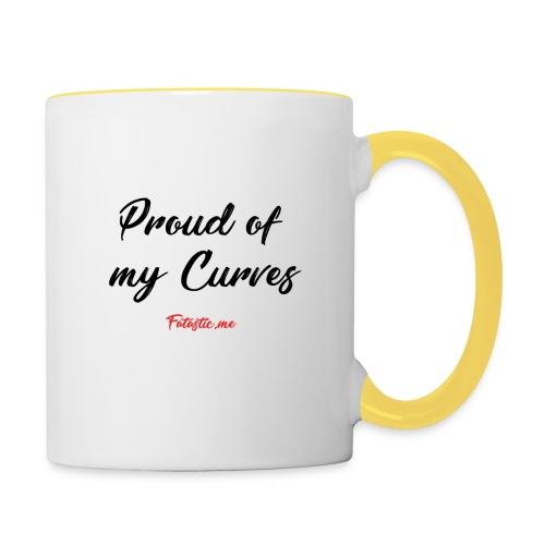 Proud of my Curves by Fatastic.me - Contrasting Mug