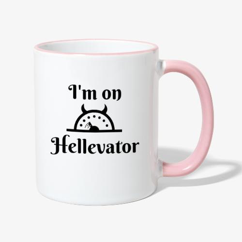 I'm on hellevator - Mug contrasté