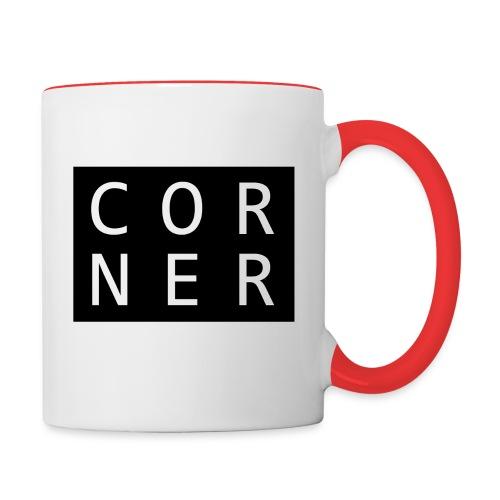 cornerbox - Tofarvet krus