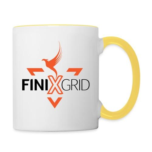 FinixGrid Orange - Contrasting Mug