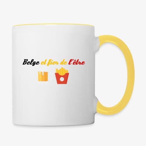 Belge et fier de l'être - Mug contrasté