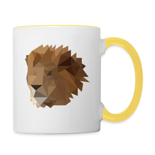 Löwe - Tasse zweifarbig