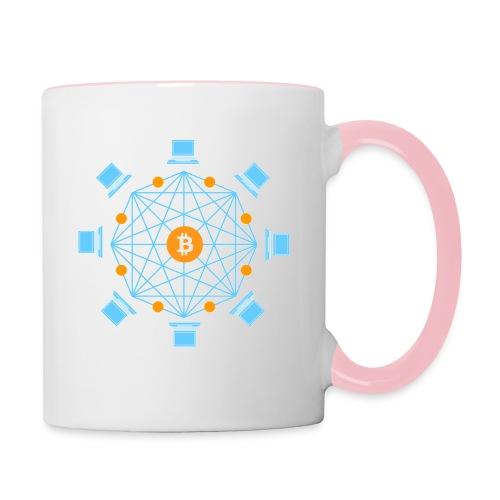 Blockchain - Kaksivärinen muki
