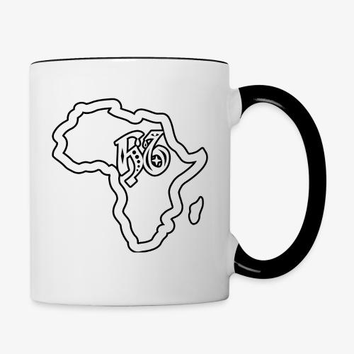 afrika pictogram - Mok tweekleurig