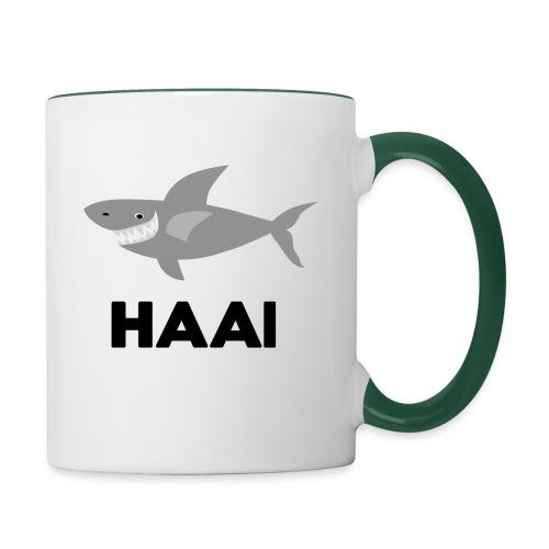 haai hallo hoi - Mok tweekleurig