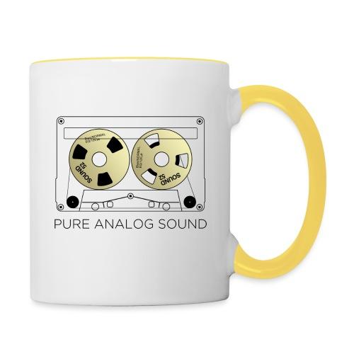 Reel gold cassette white - Contrasting Mug