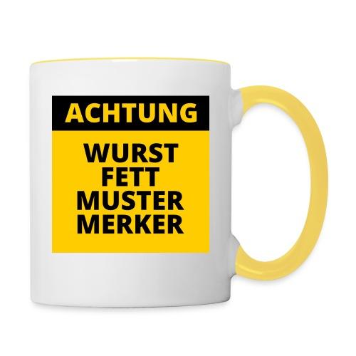 Achtung - Wurstfett! - Taza en dos colores