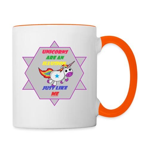 Unicorn with joke - Contrasting Mug