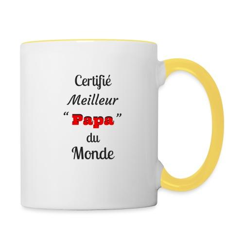 t-shirt fete des pères certifié meilleur papa - Mug contrasté