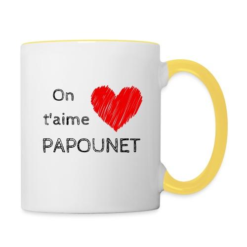 On t'aime papounet - Mug contrasté