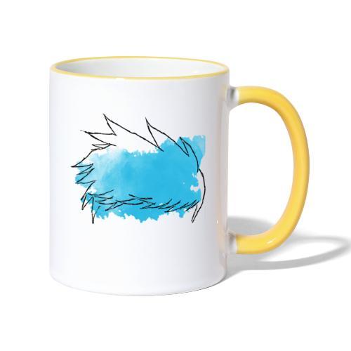 Blue Splat Original - Contrasting Mug
