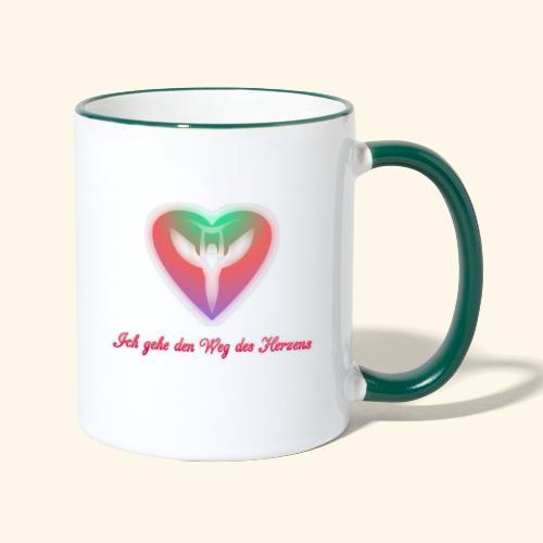 Ich gehe den Weg meines Herzens - Tasse zweifarbig