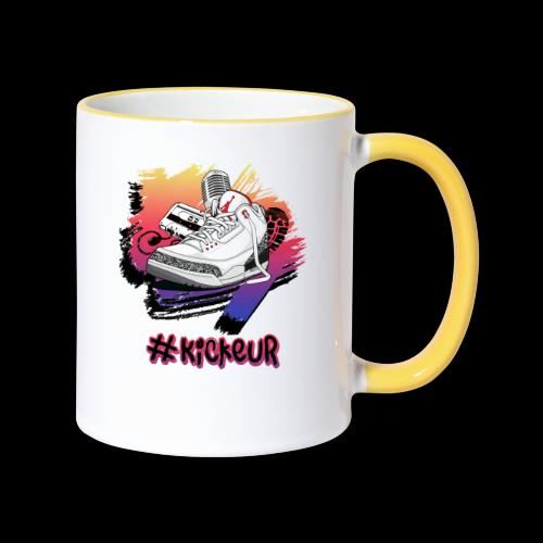 #Kickeur Noir - Mug contrasté