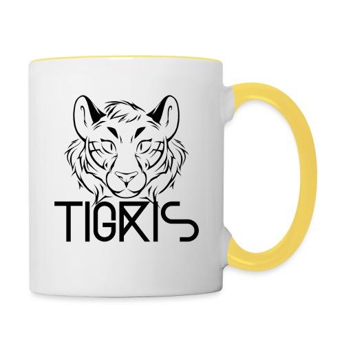 Tigris Logo Picture Text Black - Contrasting Mug