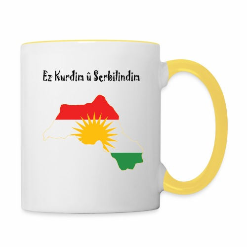 Ez kurdim u serbilindim - Tvåfärgad mugg