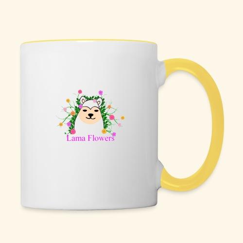Lama Flowers - Mug contrasté