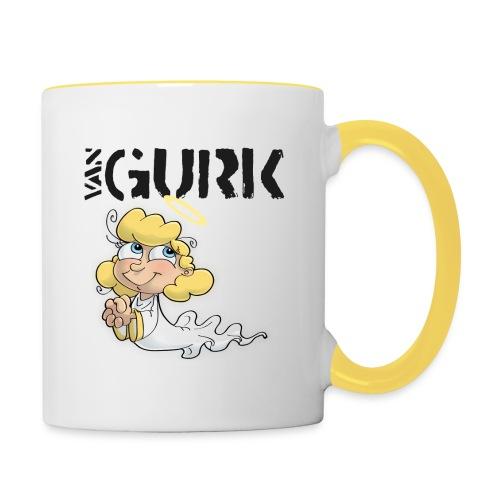 VAN GURK Engerl Logo SCHWARZ - Tasse zweifarbig