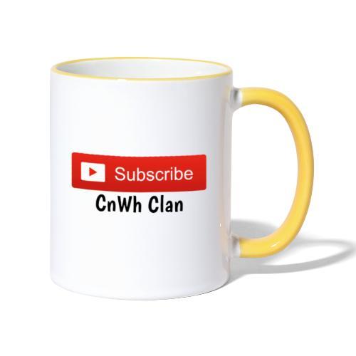 Subscribe CnWh Clan Merch - Tvåfärgad mugg