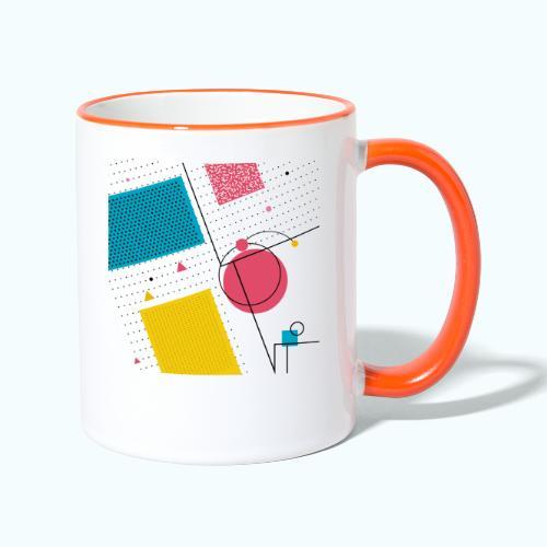 Colors shapes abstract - Contrasting Mug