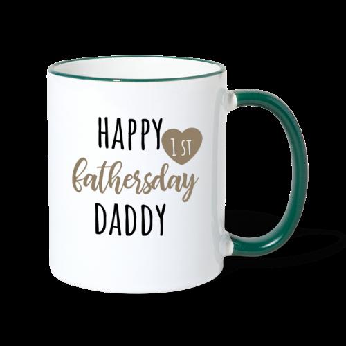 Happy first fathersday - Tasse zweifarbig