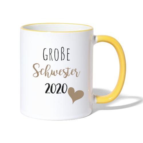 Große Schwester 2020 - Tasse zweifarbig