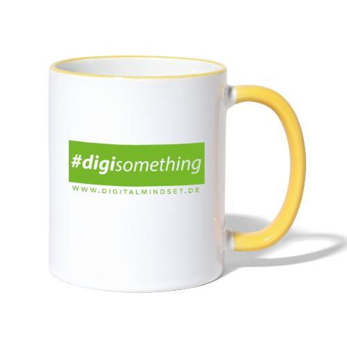 #digisomething - Tasse zweifarbig