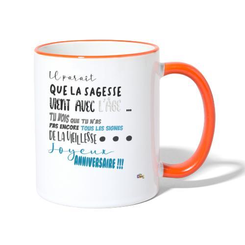 anniversaire Sagesse - Mug contrasté