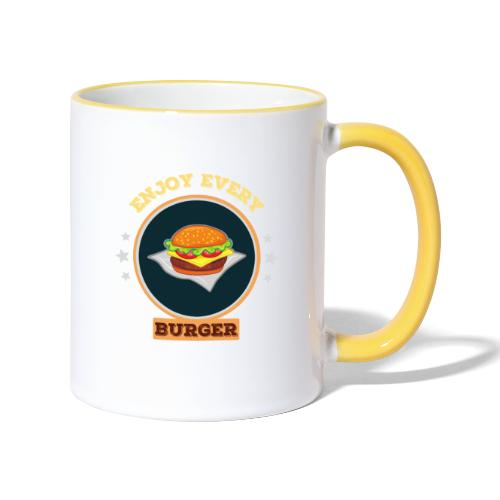 Enjoy every burger - Tasse zweifarbig