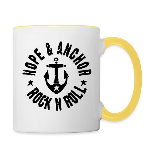 Hope & Anchor - Rock´n´Roll - Tasse zweifarbig