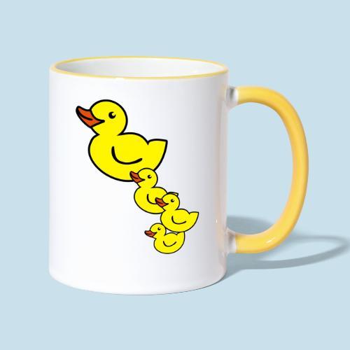 Ente - Tasse zweifarbig