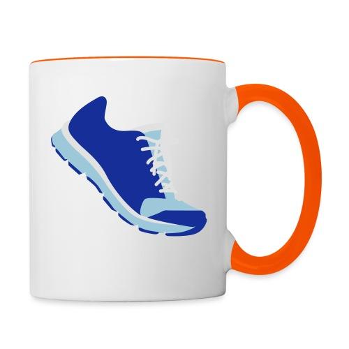 Laufschuh - Tasse zweifarbig