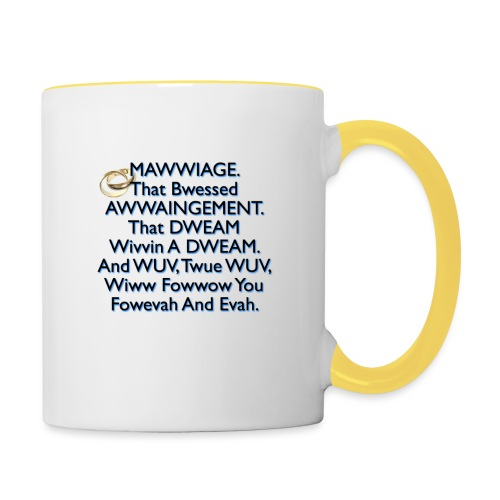 Mawwiage (blue) - Contrasting Mug