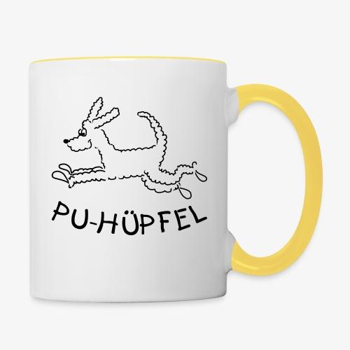 Pu-Hüpfel - Tasse zweifarbig