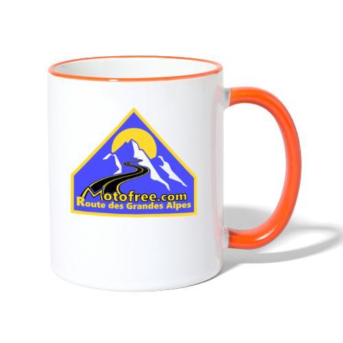 Logo motofree bleu - Mug contrasté