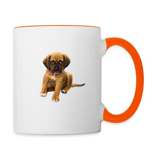 Süsses Haustier Welpe - Tasse zweifarbig