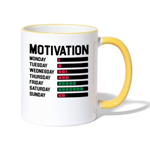 Wochen Motivation - Tasse zweifarbig