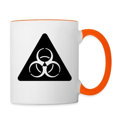 Virus invertiert - Tasse zweifarbig